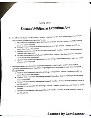 Second Midterm Examination