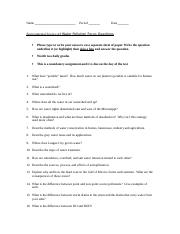 Water Pollution Objective Sheet