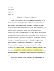 Sequence II Essay