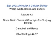 LECTURE-2_Chemical Concepts for Biology