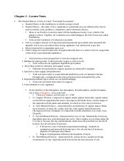 Ch. 2 Notes