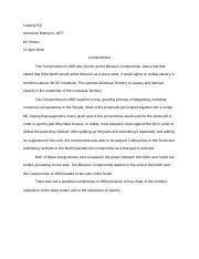 missouri compromise study resources  missouri compromise study resources essays 1 page compromises