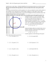 circles given center and point math homework