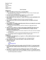Unit 5 Chapter Exercises