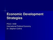Week 10 - Economic Development Strategies