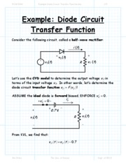 Example Diode Circuit Transfer Function