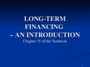 CH15 Intro Financing