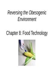 Chapter 8 Food Technology
