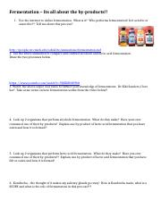Fermentation – Its all about the by products worksheet.docx