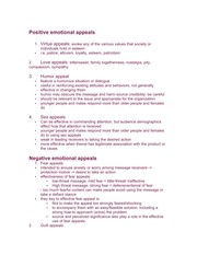 Positive and negative emotional appeals notes