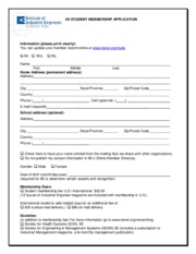 IIE Membership Form