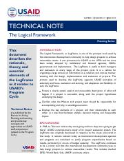 Logical Framework Technical Note_FINAL_Dec_2012