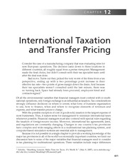 Chapter 12   International Taxation And Transfer Pricing