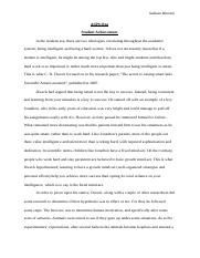 Psychology First Paper