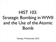 Strategic bombing slideshow