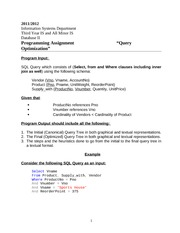 IS312_ASSIGNMENT_QueryOptimization_ProgrammingAssignment_2012