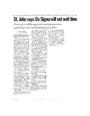Six Sigma at St John as PDF