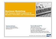 Business Modelling - SAPs Business Model Framework for Business Innovation and Transformation