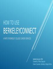 How to Use Berkeley Connect