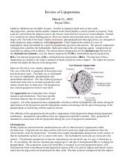Review of Lipoproteins