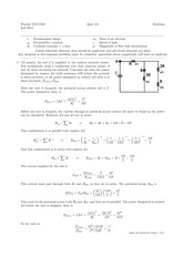 PHYS 2212 Fall 2014 Quiz 4 Solutions