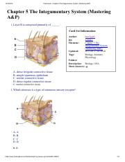Flashcards - Chapter 5 The Integumentary System (Mastering A&P).pdf