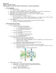 BIOL 1201 Exam 3 Lecture Notes