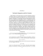 Chapter 3 Stochastic Integration and Ito Formula