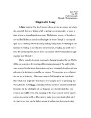 Diagnostic Essay Revised