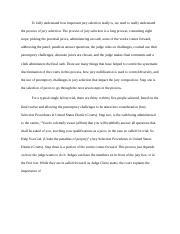 Jury selection process essay samples