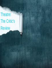 The Critic's Review