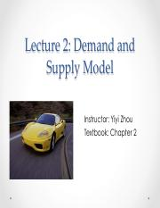 MBA 501- Demand and Supply