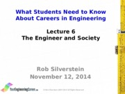 98F14 Lecture 6 The Engineer and Society POST