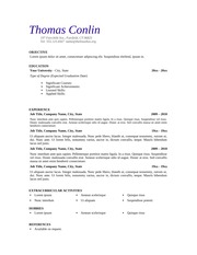 Resume and Cover Letter Sample 1