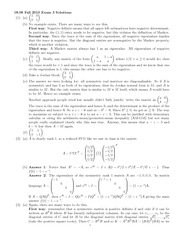Exam 3 Solution Fall 2010 on Linear Algebra