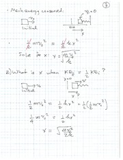 PHYS 100 Spring 2011 Conservation of Mechanical Energy Lecture Notes