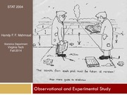 3 Observational and Experimental Study Part 1