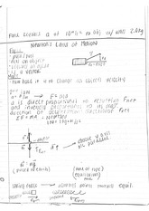 Newton's Laws of Motion Notes