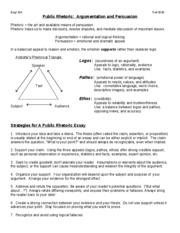 134 Argument Persuasion and Strategies HO