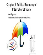 Chapter 6  Political Economy of International Trade