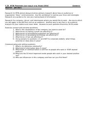 Audience Analysis Worksheet for Job Docs
