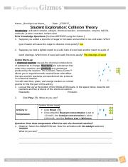Collision Theory Notes - Name Date Student Exploration ...