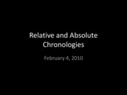 Lecture 5 Chronology