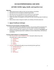 CHS 306 lecture notes week 3 and 4.docx