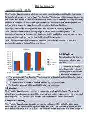 Child Care Business Plan-بيتر نبيل docx pdf - Child Care