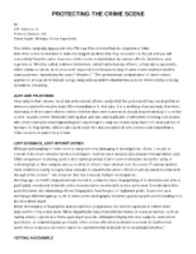 ProtectingCrimeScene WORKSHEET - FORENSIC WORKSHEET Protecting the ...