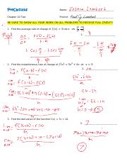 PreCalc-Chapter-10-Test pdf - PreCalculus Name Chapter 10