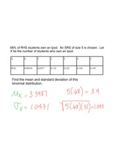 mean and variance problem and solution