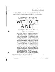 negotiating without a net