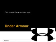 Under Armour Power Point